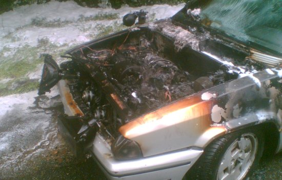 The fire dept. had high praise for the front hood which, being plastic, needed not be opened to put the fire out.